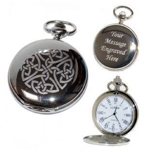Celtic Knot (1) Pocket Watch Roman Numerals Quartz